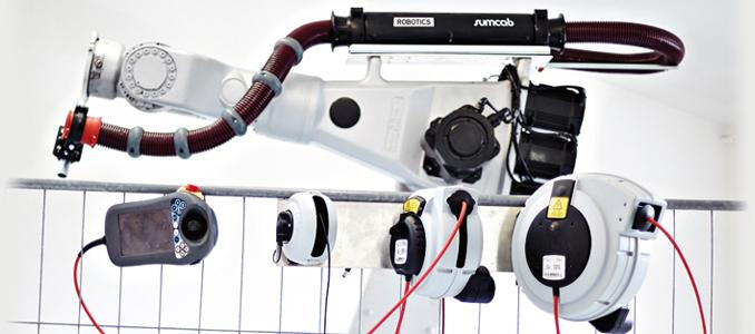 Sumcab: soluções de cablagem para robots industriais