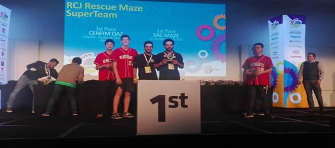 CENFIM: campeões mundiais de robótica