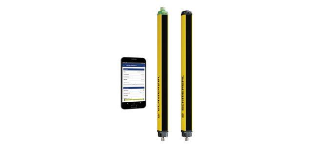 célula ótica com interface por Bluetooth da Schmersal