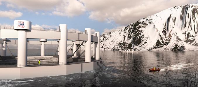 ABB com exploração piscícola submersível controlada remotamente no Ártico