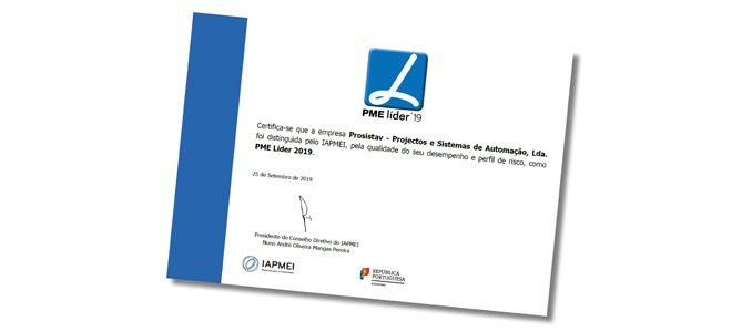 PROSISTAV é PME Líder pelo 7.º ano consecutivo