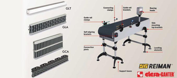 Nova gama de componentes ELESA+GANTER para tapetes transportadores