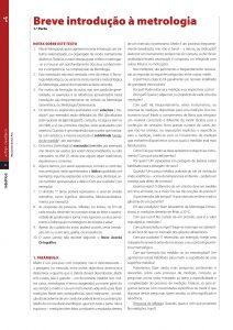 Artigo científico sobre a introdução à metrologia