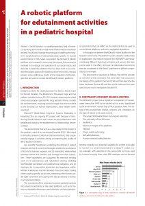 artigo sobre a robotic platform for edutainment activities in a pediatric hospital