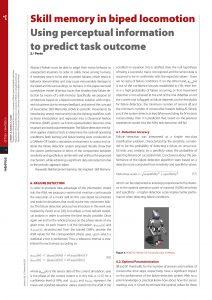 segunda parte do artigo sobre Skill memory  in biped locomotion