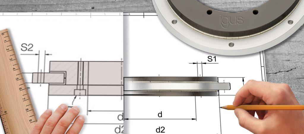 Muito movimento num espaço reduzido com anéis rotativos deslizantes da igus