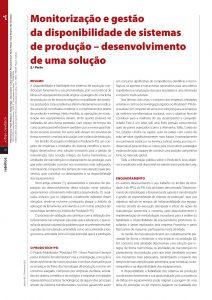 terceira parte do artigo sobre Monitorização e gestão de sistemas de produção