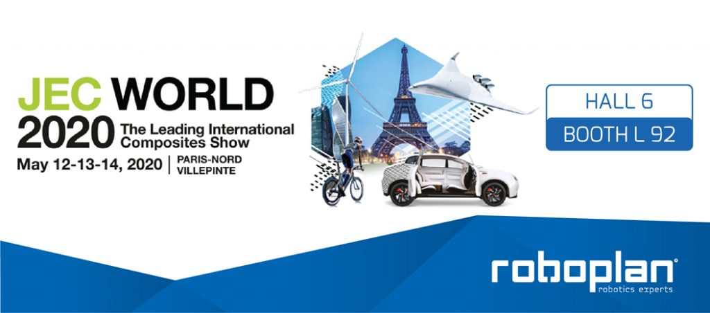 Roboplan vai estar presente na JEC World 2020