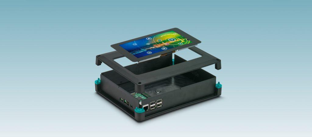 Phoenix Contact: invólucros eletrónicos UCS-RPI para ecrãs táteis Raspberry Pi