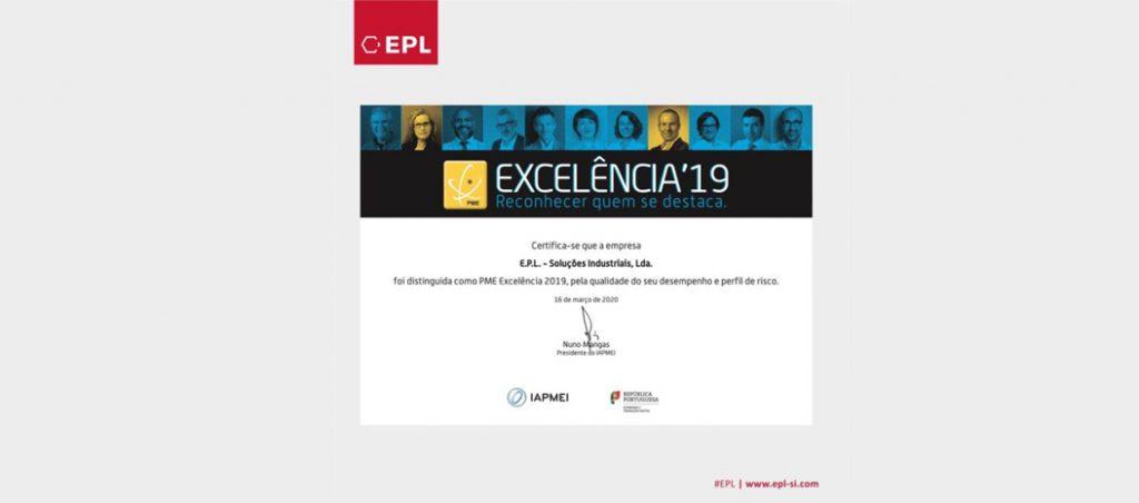 EPL distinguida como PME Excelência