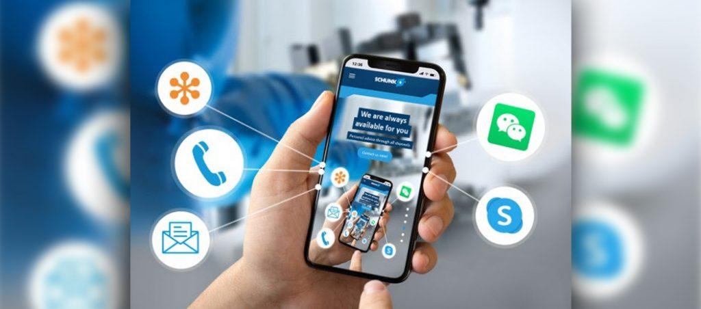 SCHUNK facilita canais de comunicação digital durante o confinamento