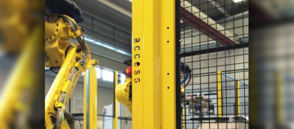 Barreiras de proteção de máquinas da Access com aplicação na robótica (marcação CE)