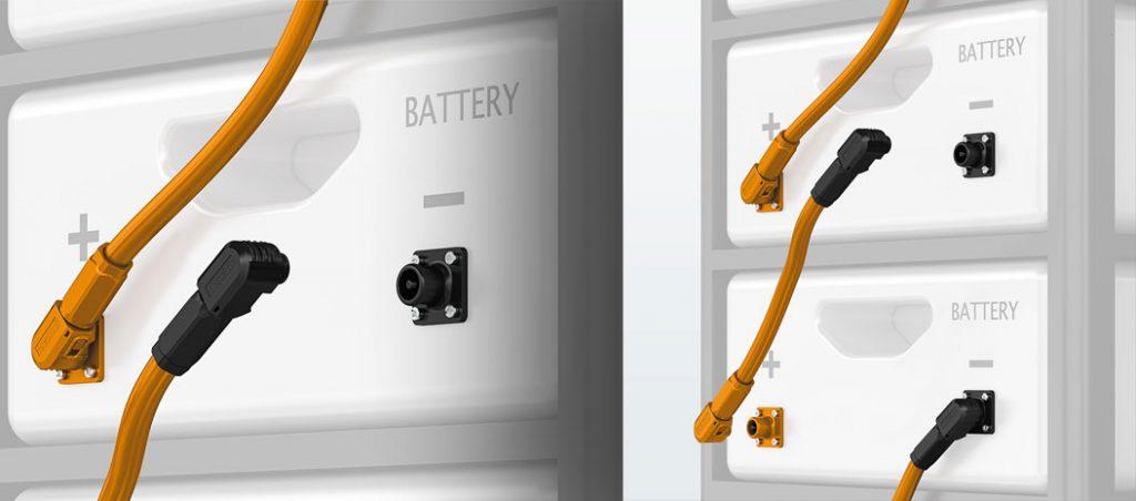 Conetores para sistemas de armazenamento de energia