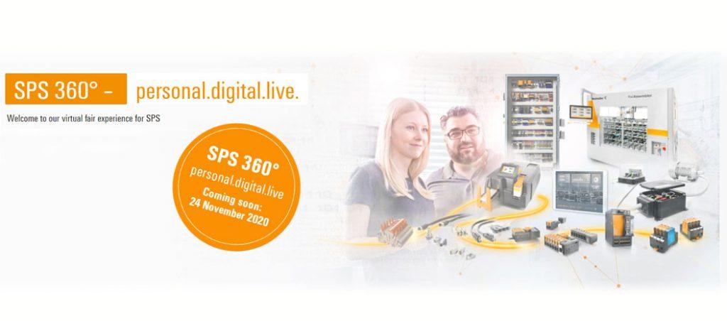 """Weidmüller apresenta """"SPS 360° – personal.digital.live."""", feira virtual para soluções de produção inteligente – 24 a 26 nov."""