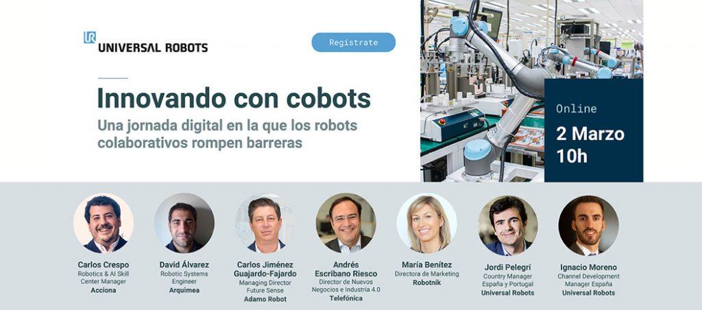 "Webinar ""Innovating with cobots"" organizado pela Universal Robots"