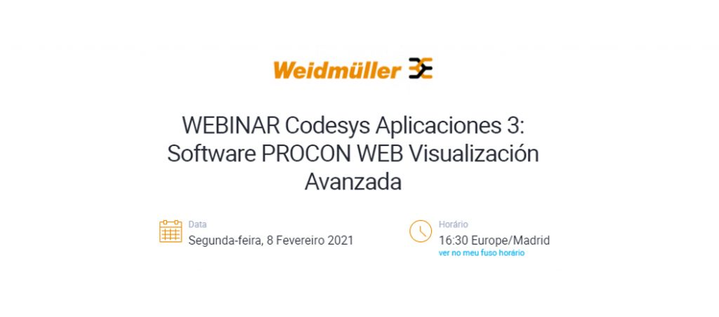 Weidmüller organiza webinar técnico
