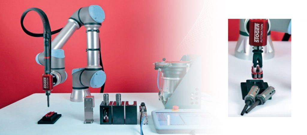 SPATZ: robot de aparafusamento STÖGER Pick&Place