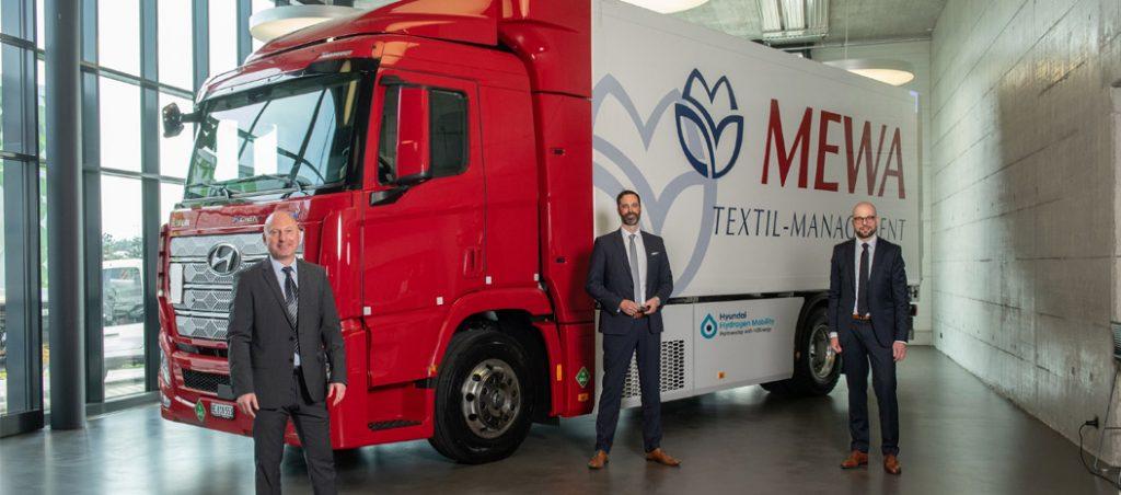 O primeiro camião a hidrogénio circula ao serviço da MEWA