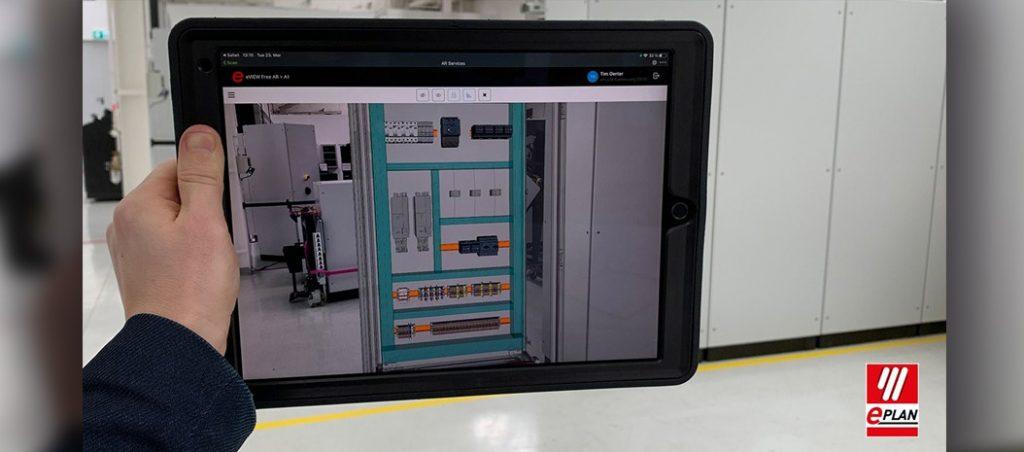Realidade aumentada de armários com o EPLAN eVIEW Free AR
