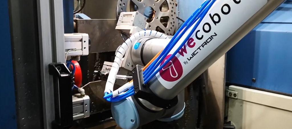 Aplicação de robótica colaborativa pela WECOBOTS