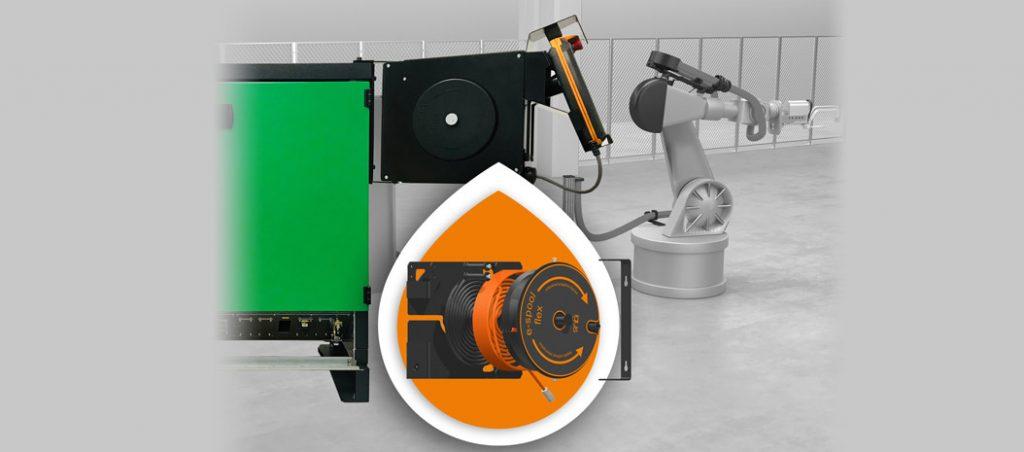 e-spool flex para ligação contínua aos robots industriais