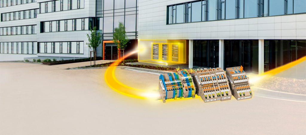 Réguas de bornes Weidmüller Klippon® Connect AITB para instalação em edifícios